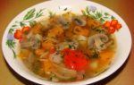 Суп грибной с тыквой