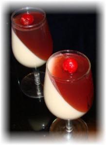 Желе вишнево-сливочное