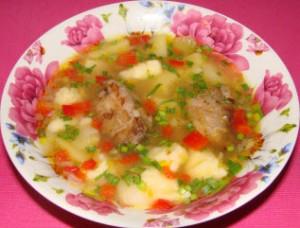 суп с клецками (галушками)