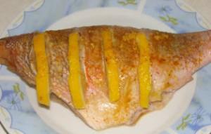 запеченная рыба в сырном соусе
