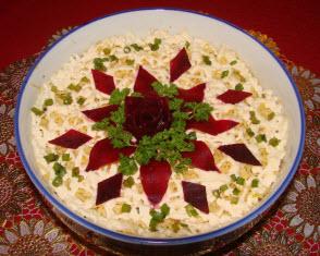 салат мясо под шубой